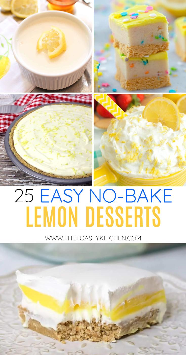 25 Easy No-Bake Lemon Desserts collage.