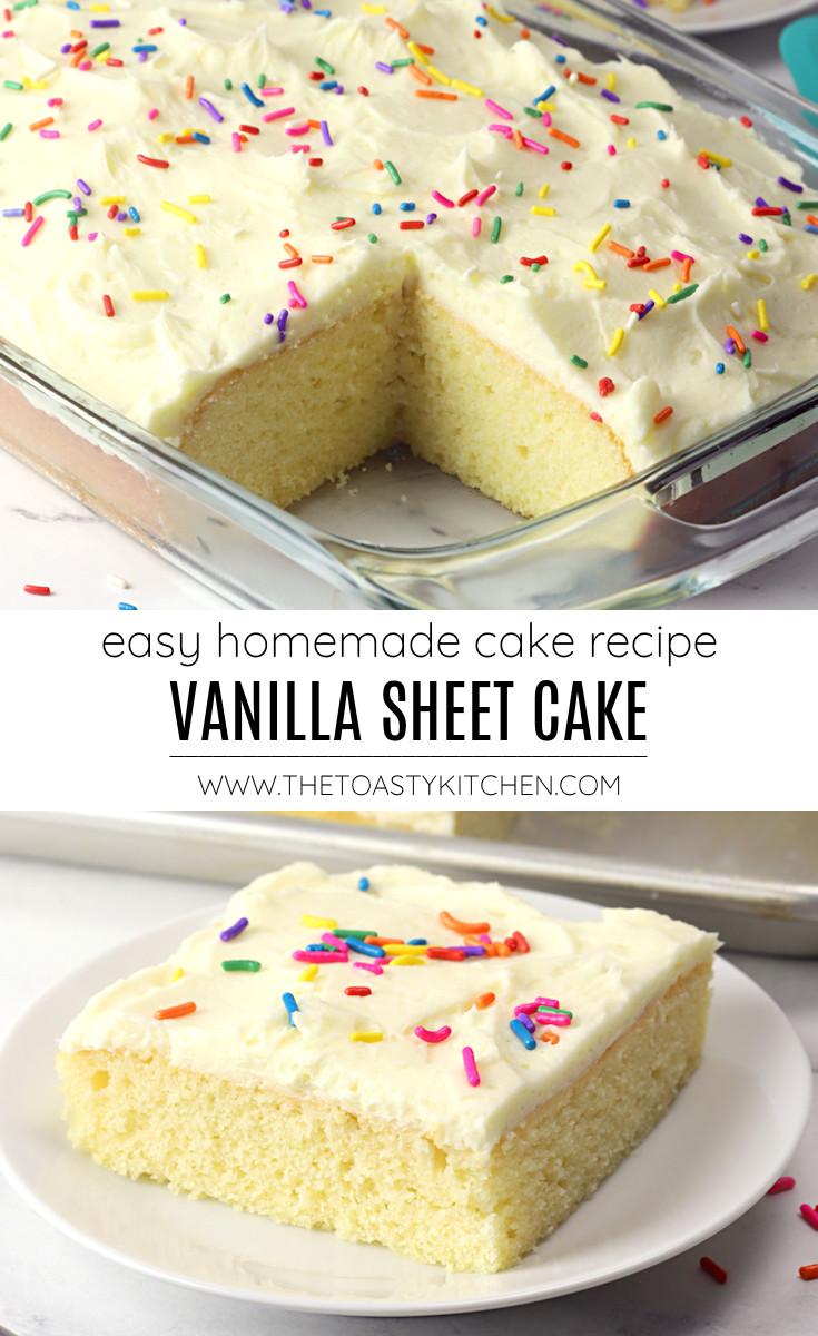 Vanilla sheet cake recipe.