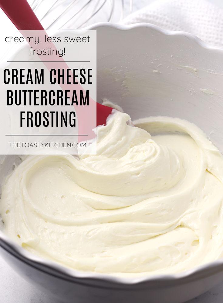 Cream cheese buttercream frosting recipe.
