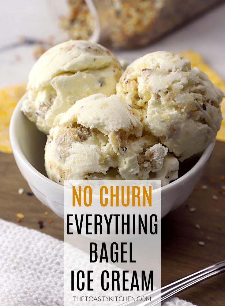 Everything bagel ice cream recipe.
