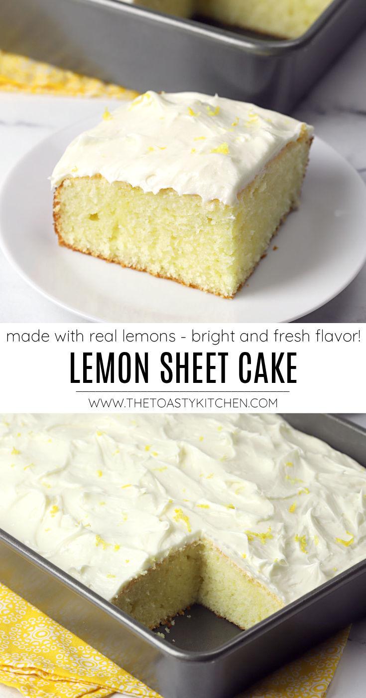 Lemon sheet cake recipe.