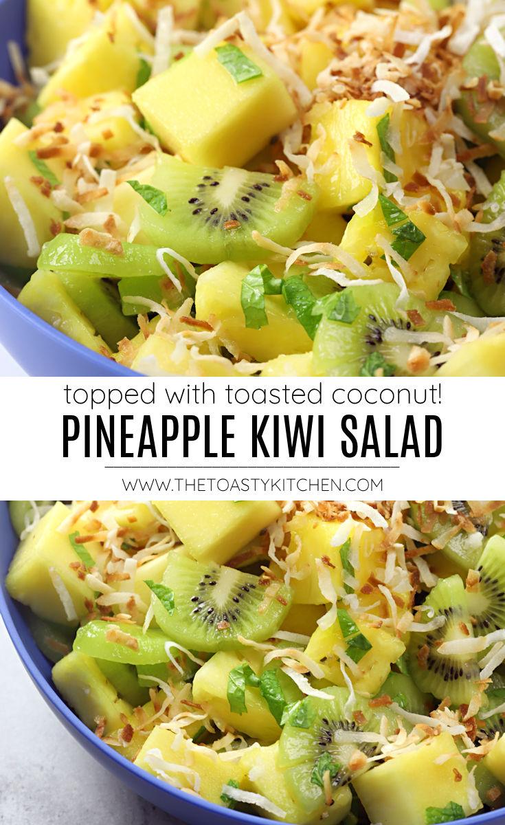 Pineapple kiwi salad recipe.