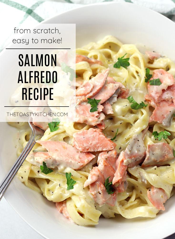 Salmon alfredo recipe.