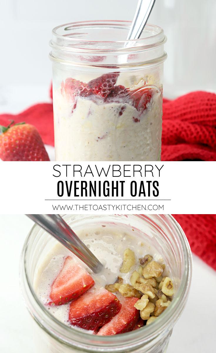 Strawberry overnight oats recipe.