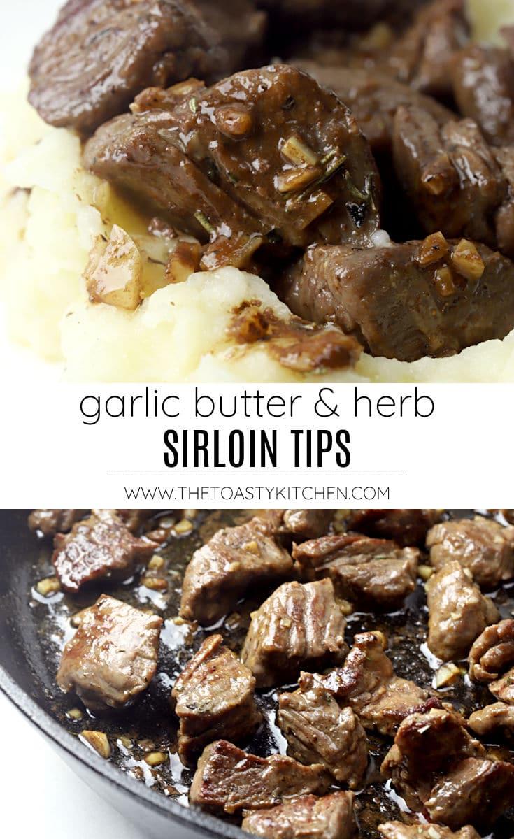 Garlic butter and herb sirloin tips recipe.