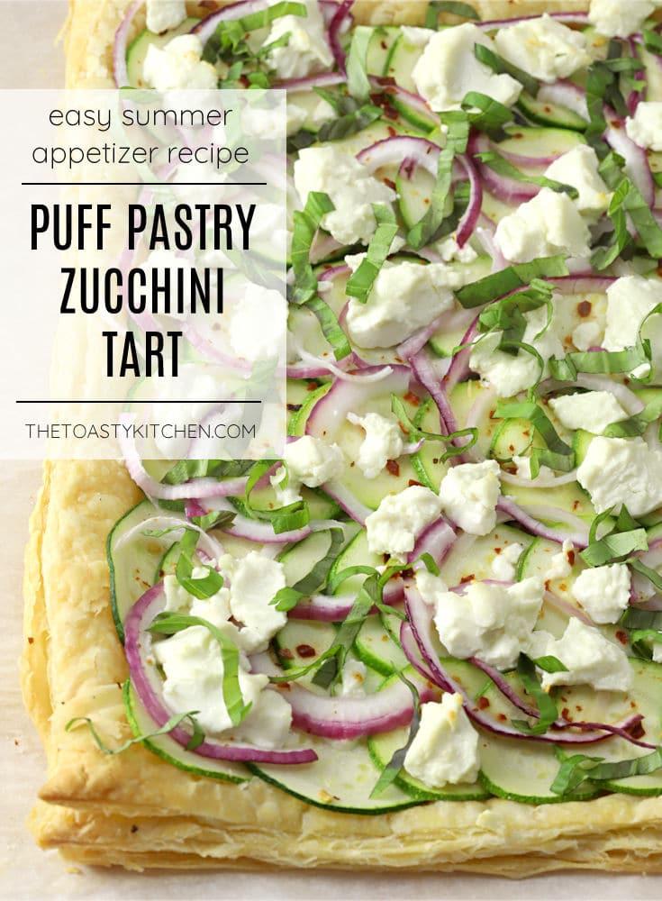 Puff pastry zucchini tart recipe.