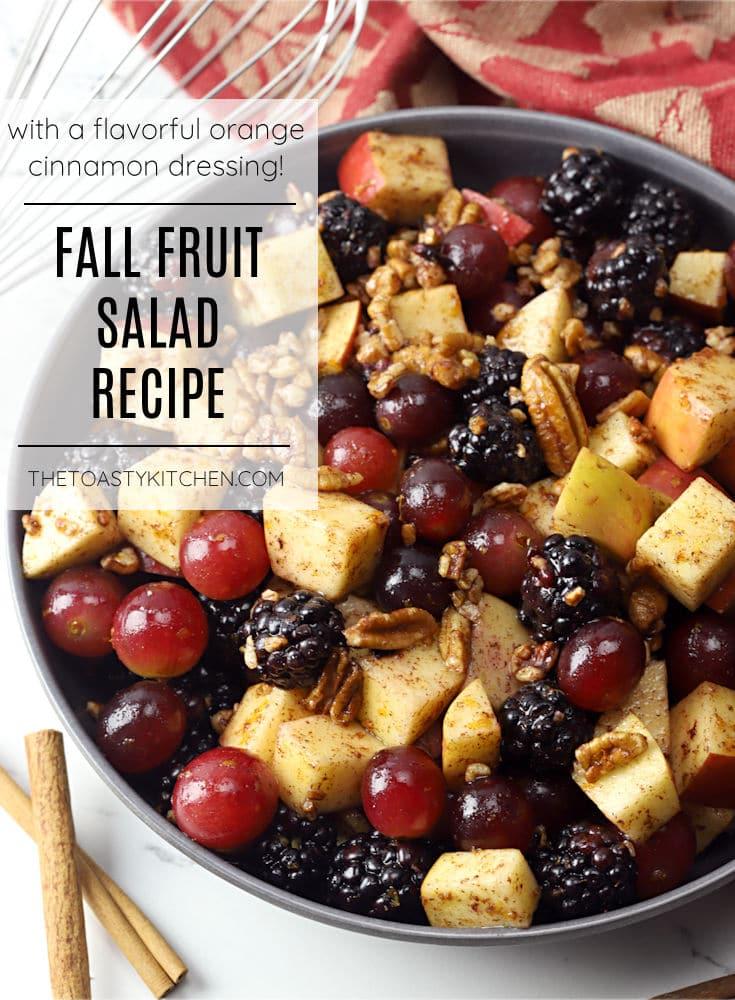 Fall fruit salad recipe.