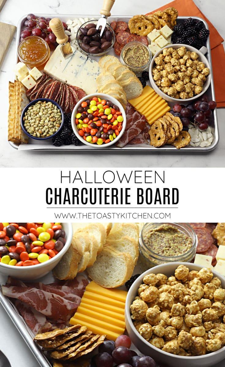 Halloween charcuterie board recipe.