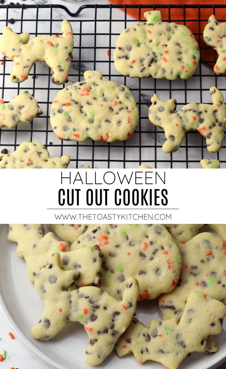 Halloween cut out cookies recipe.