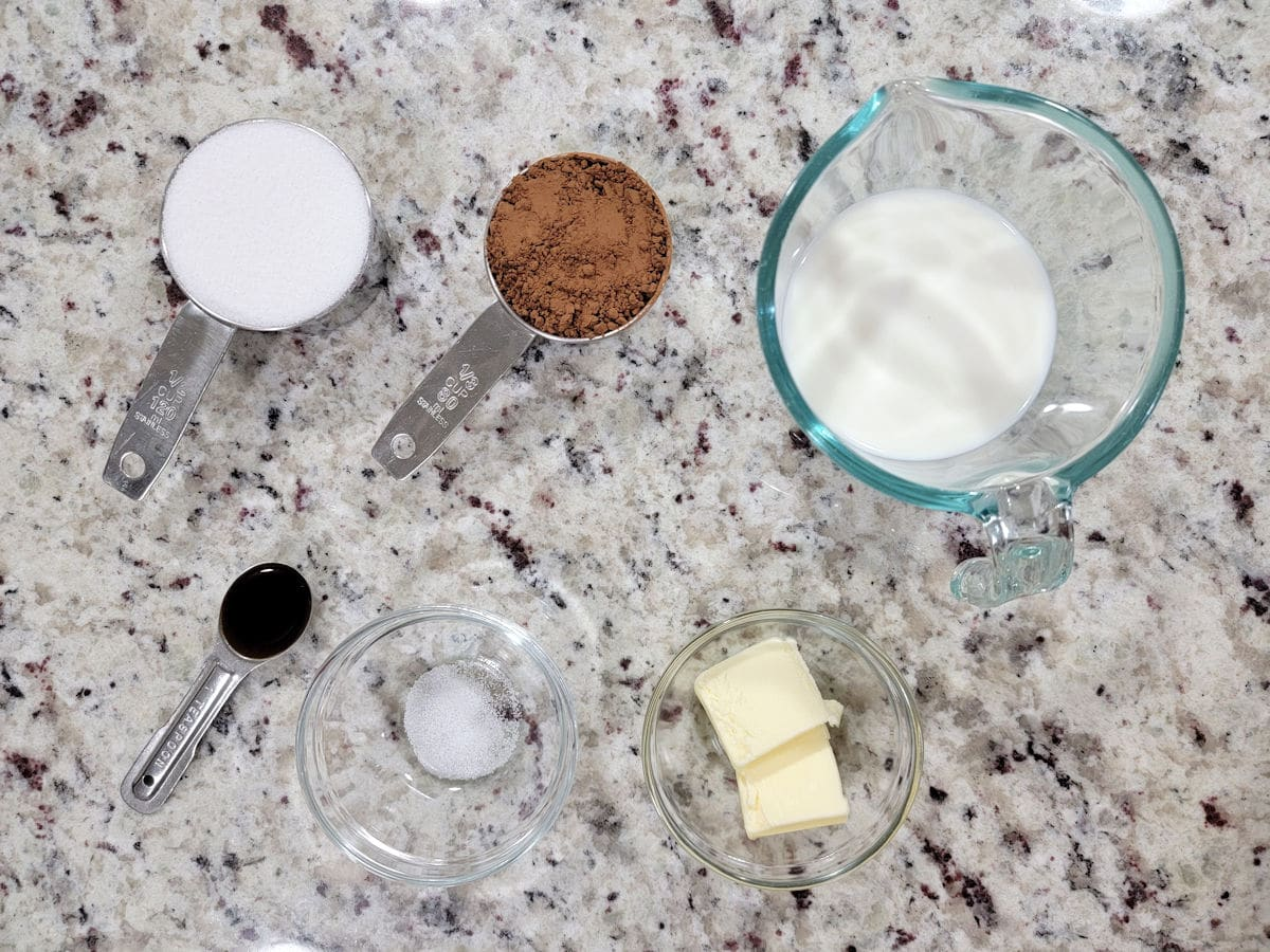 Ingredients on a counter top.