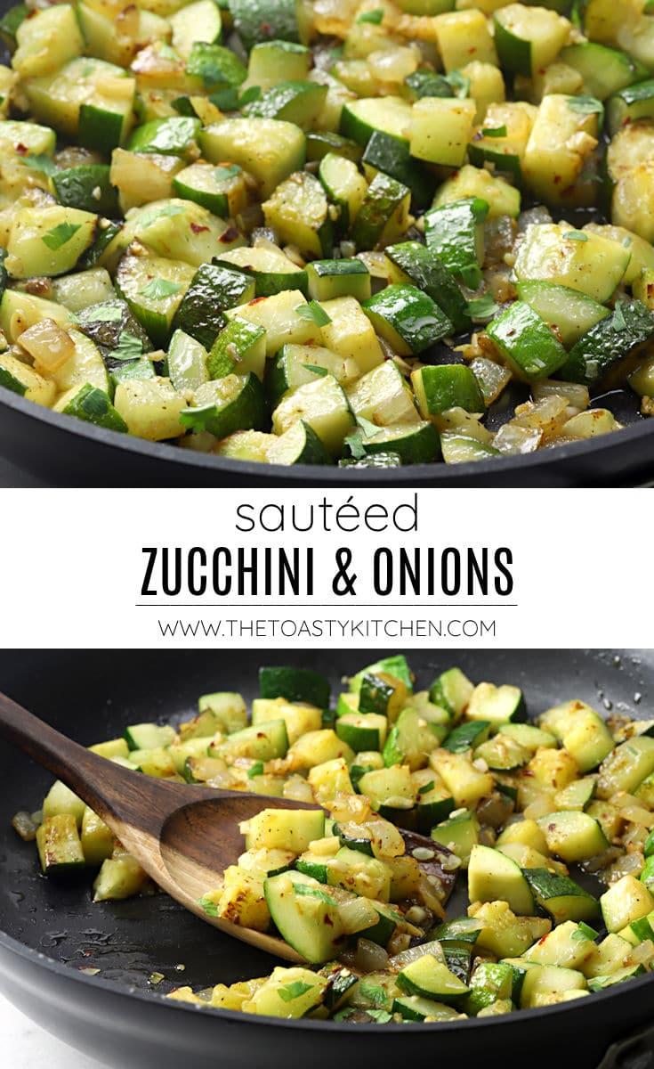Sautéed zucchini and onions recipe.
