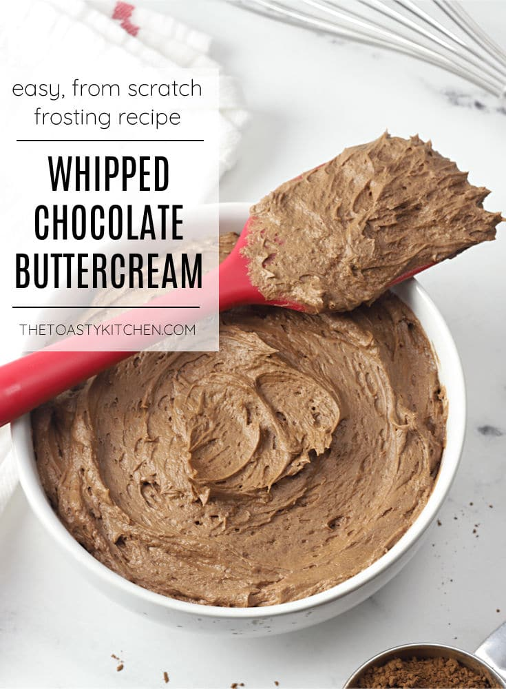 Whipped chocolate buttercream frosting recipe.
