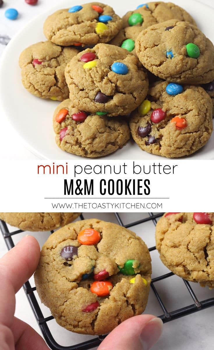 Mini peanut butter M&M cookies recipe.