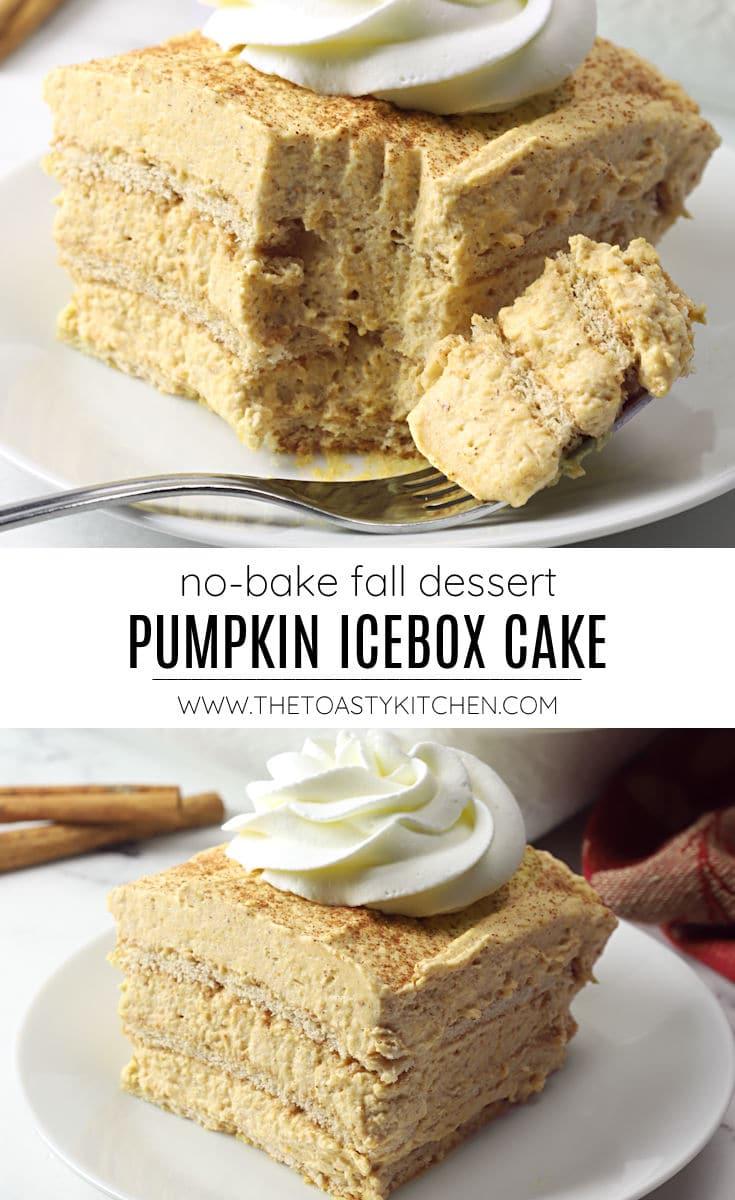 Pumpkin icebox cake recipe.