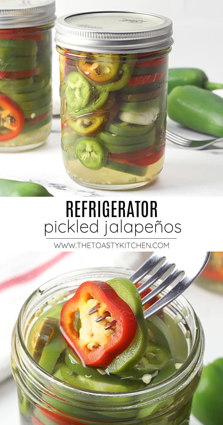 Refrigerator pickled jalapeños recipe.