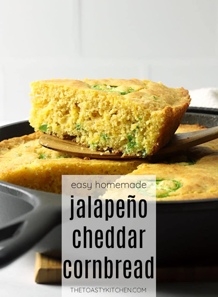 Skillet jalapeño cheddar cornbread recipe.